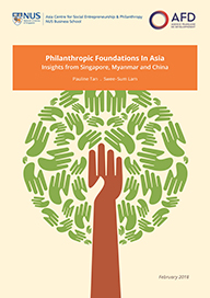 Philanthropic Foundations in Asia: Insights from Singapore, Myanmar and China